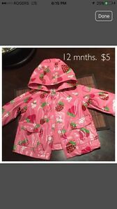 Girl's 12 Mnth Raincoat