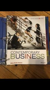Contemporary Business (Management of the Enterprise) Textbook