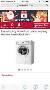Electrolux front load washing machine 8 KG - EWF1481 Woolloomooloo Inner Sydney Preview