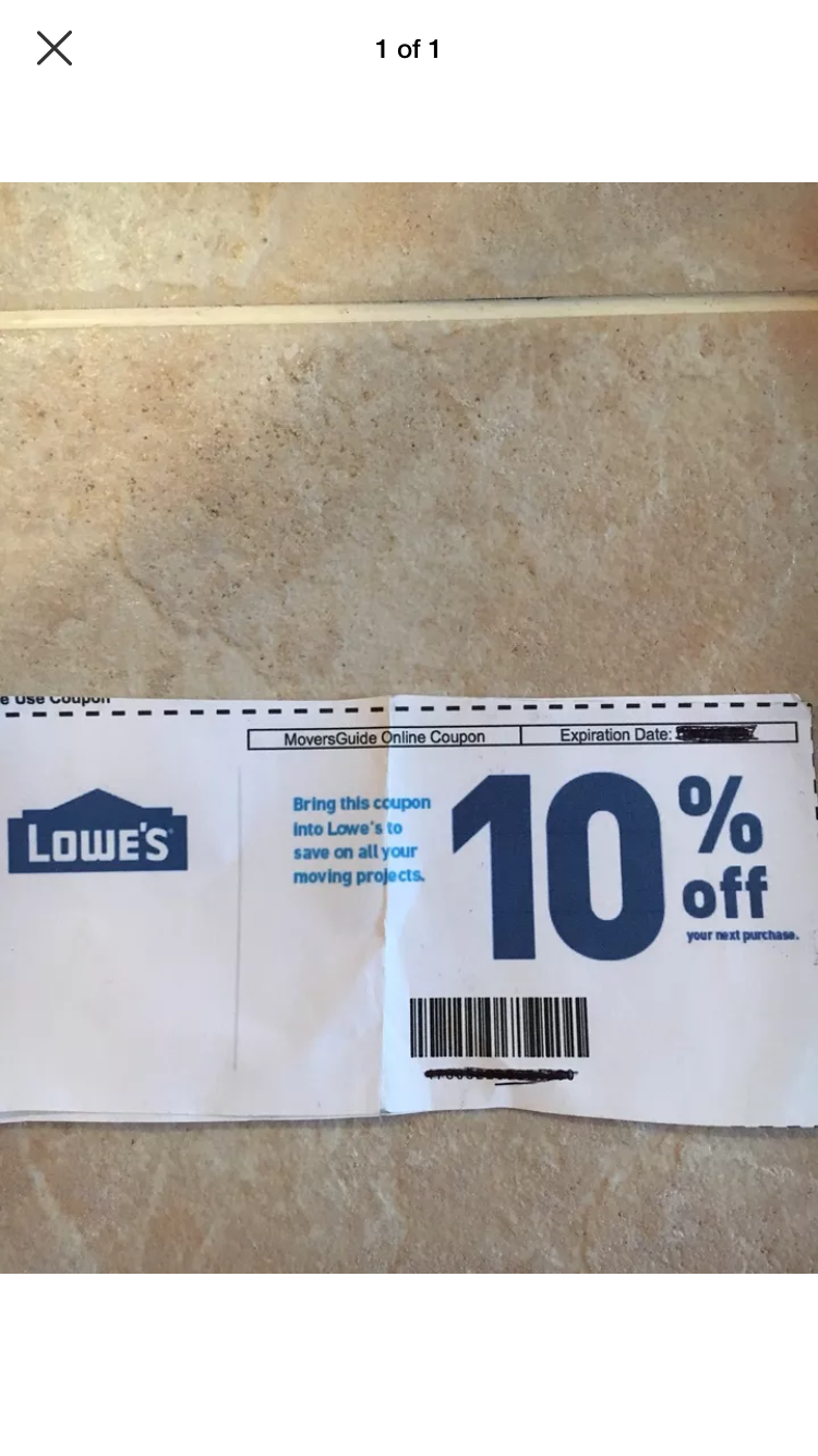 LOWE S 10 Seller Guarantees Exp 3/31/19 Can Be Emailed At Your Request - $2.99