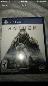 Anthem PS4 $50 mint condition