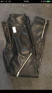 womens faux leather trousers Size 10