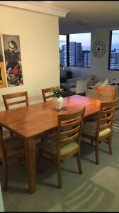 Dining table and 6 chairs West End Brisbane South West Preview