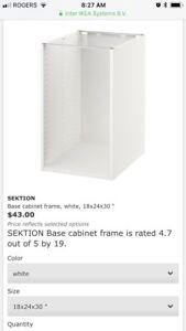 Kitchen base cabinet IKEA 18x24