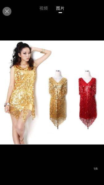 Plus Size Gatsby 1920s Fancy Dress Sequin Costume Dresses Skirts