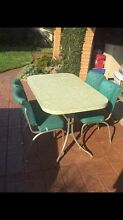 Retro 50's 60's Laminex / Laminate Kitchen Dining Table & Chairs Brighton-le-sands Rockdale Area Preview