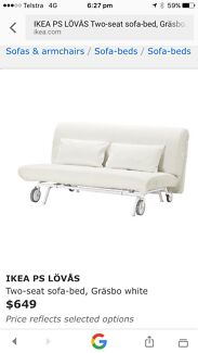 Ikea LOVAS 2 seater pull out sofa bed