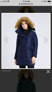 Ladies Smart Parka winter jacket by North Aware size small