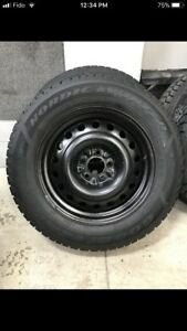 Goodyear Nordic winters 225-65-17 on steel rims (5x114.3)