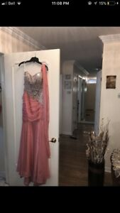 Beautiful Pink/Coral Prom or Occasion dress (120$)