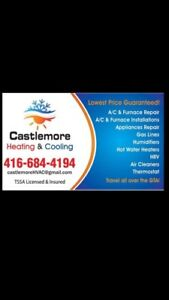 Heating cooling plumbing gas work home appliances