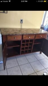 Granite buffet and matching table