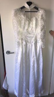Vintage 1990s Handmade Wedding Dress
