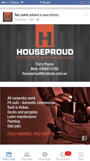 Houseproud Property maintenance  Fairy Meadow Wollongong Area Preview