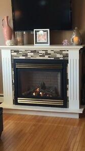 Propane Fireplace and Mantel