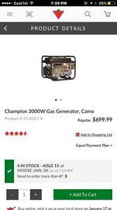 Champion 3000w gas generator $550 obo