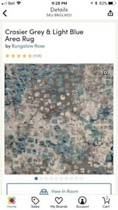 """6'7"""" x 6'7"""" square area rug - brand new never used."""