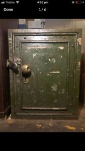 Interesting antique safe