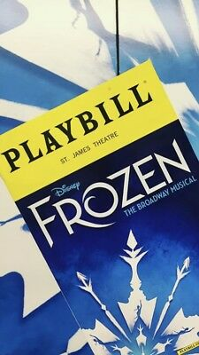 DISNEY FROZEN BROADWAY NEW YORK CITY MUSICAL PLAYBILL 2018 ST JAMES THEATRE NYC