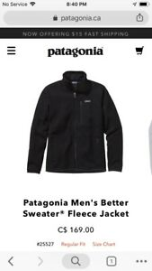 Patagonia men's small better sweater
