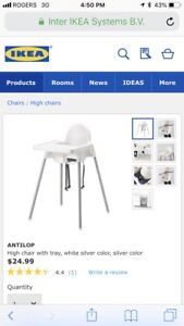 High chair - Ikea -$5 and other items