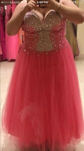 REDUCED beautiful pink prom dress size 20