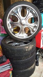 Mag wheels and tyres 22 inch with good tyres Jacana Hume Area Preview