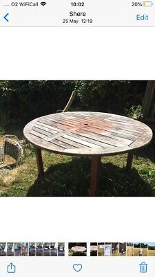 solid wood outdoor table