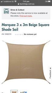Shade sail cream 3m x 3m