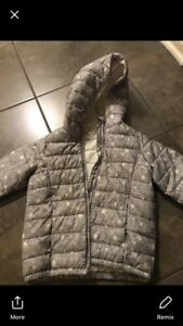 Gap warm winter jacket for car seat
