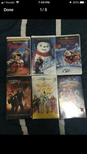 7 VHS tapes (USED)