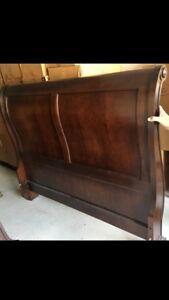 Wooden QUEEN SLEIGH BED FRAME