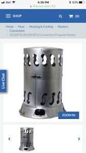 30,000-80,000 BTU Convection Propane Heater