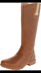 Bogs pearl leather tall boots