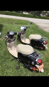 Pair of Motor Scooters / Moped / Vespa