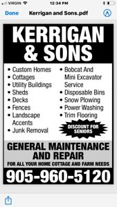 Genral contracting handy man service