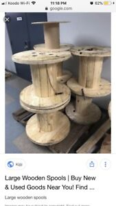 LOOKING for wood/cable spools