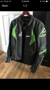 Men's alpine star motorcycle leather jacket