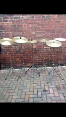 """Free P&P. One Generic 16"""" Crash Cymbal and Stand."""