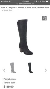 Woman fashion boots high heels. Size 6.