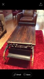 Weigh scale antique coffee table