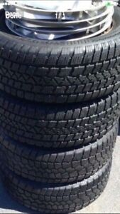 215/60/15 studable winter tires on steel GM rims