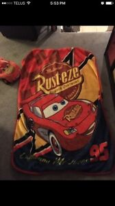 Cars toddler blanket and pillow/ cushion