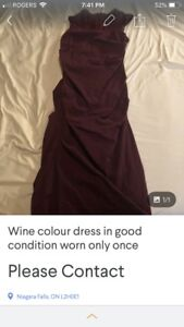 Burgundy dress and Romper