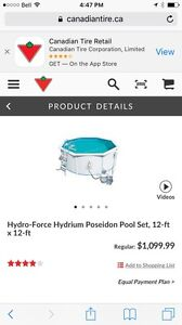 Hydro force hydrium above ground pool