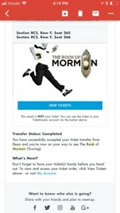 Book of Mormon Tickets for Sale September 22nd 2pm