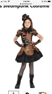 Girls Steampunk Costume, Size Medium