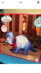 Wanted- inflatable blue dinosaur Christmas