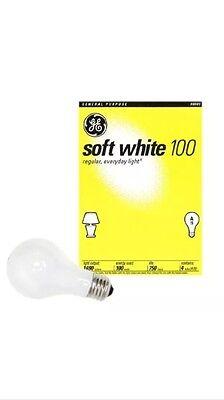 48   100 Watt Ge Soft White Incandescent Light Bulbs  Case Of 48