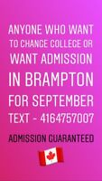 Admission Available for sept